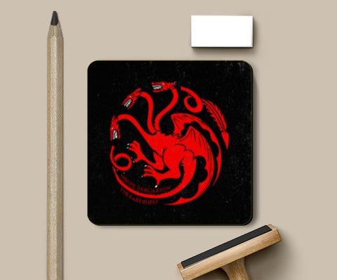 Coasters, House Targaryen - Game Of Thrones Coasters | Artist : Gurmeet, - PosterGully
