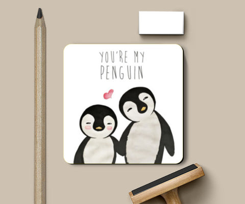 You're My Penguin | Artist: Aparna Singh Coasters | Artist : Aparna Singh