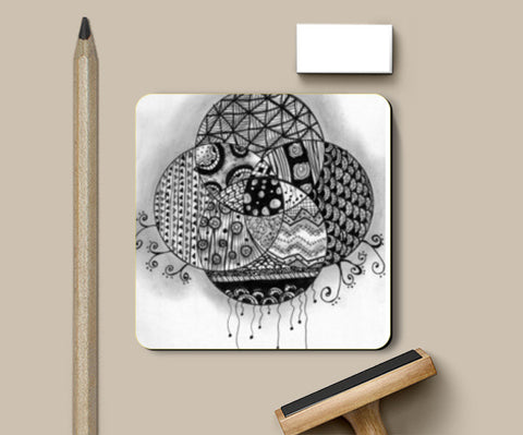 The Doodled Earth Coasters | Artist : Nishita Jain