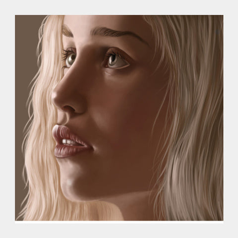 Square Art Prints, khaleesi Square Art Prints | Artist : chaitanya kumar, - PosterGully