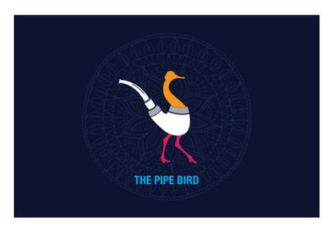 THE PIPE BIRD Wall Art  | Artist : Satish Moladiya