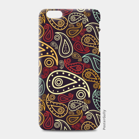 Abstract hand drawn floral illustration on multicolors iPhone 6 Plus/6S Plus Cases | Artist : Designerchennai