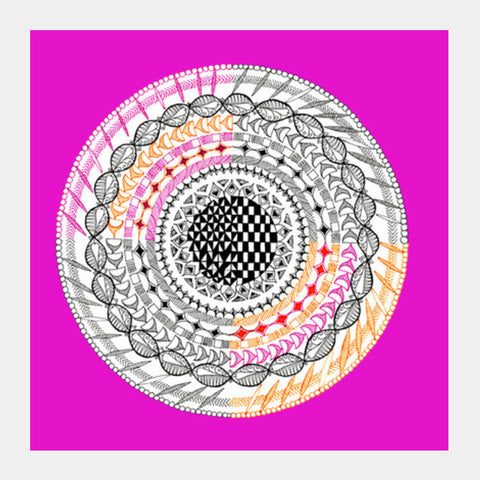 Colourful Geometric Mandala Square Art Prints | Artist : Amulya Jayapal