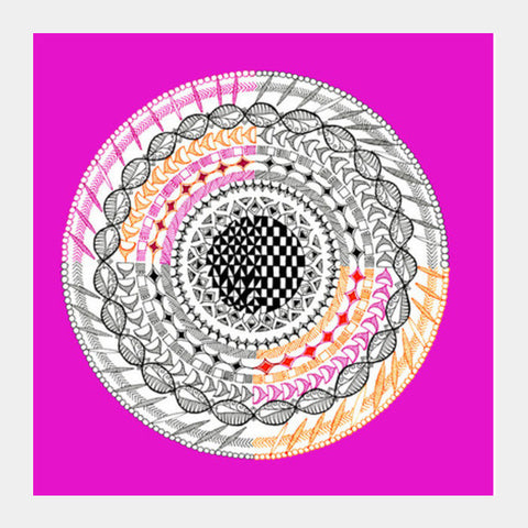 Colourful Geometric Mandala Square Art Prints PosterGully Specials