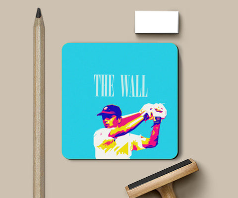 Coasters, THE WALL DRAWID CRICKET INDIA WORLD CUP  Coasters | Artist : dooo, - PosterGully