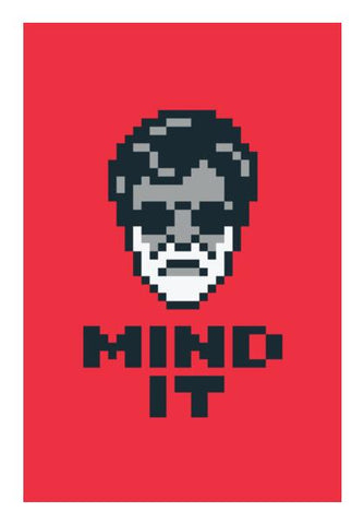 Mind It Pixel Art Wall Art PosterGully Specials
