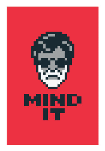 Mind It Pixel Art Wall Art | Artist : 8bitbaba