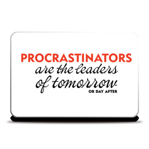 PROCRASTINATION Laptop Skins | Artist : Colour me expressive