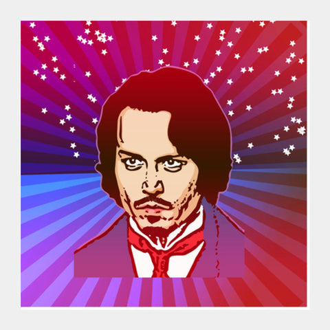 Johnny Depp Hollywood Actor Square Art Prints PosterGully Specials