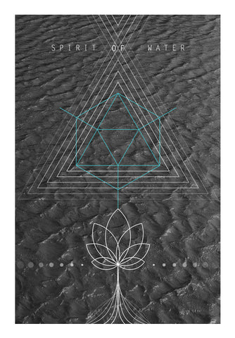 Wall Art, Sacred Geometry Water Wall Art | Artist : Kshitija Tagde, - PosterGully