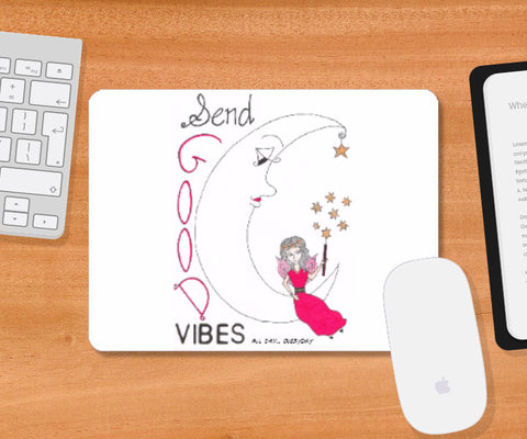 Mousepad, Good Vibes Coaster | Artist: Janeesha, - PosterGully