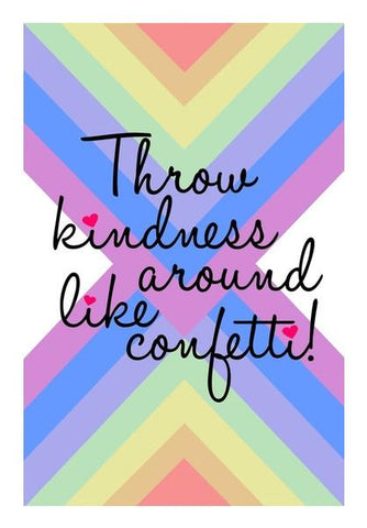 PosterGully Specials, Spread love Kindness love poster qoute Wall Art | Artist : Gauri Deshpande, - PosterGully