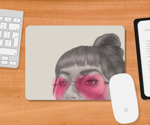 Betty With The Glasses Mousepad | Artist : Anniez Artwork
