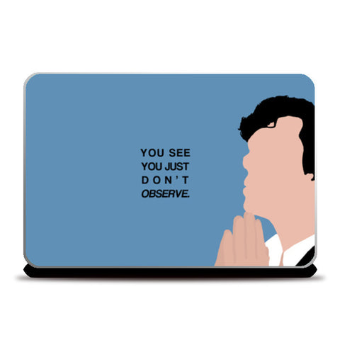 Laptop Skins, She rlock quotes Laptop Skins | Artist : Naeema Rezmin, - PosterGully