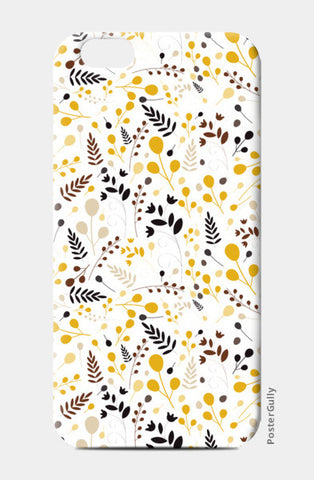 Floral seamless pattern on yellow iPhone 6/6S Cases | Artist : Designerchennai