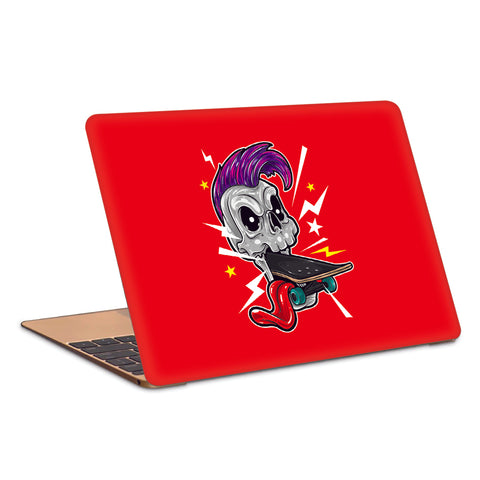 Skull Punk Skateboard Minimal Artwork Laptop Skin