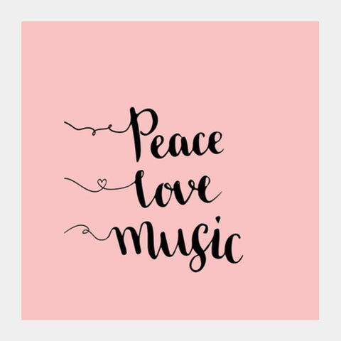 Peace Love Music Art Prints PosterGully Specials