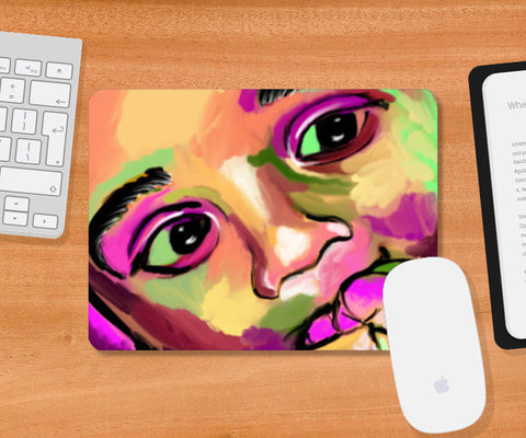 INNOCENCE #baby #kids #colorful #portrait #people #painting #sketches # Mousepad | Artist : Jessica Maria