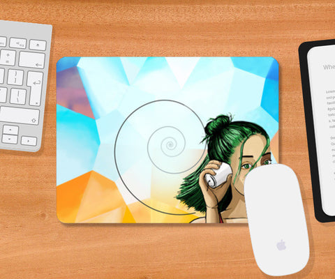 The sounds from the other side. Mousepad | Artist : devika art