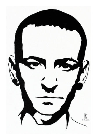 Chester Bennington Ink Wall Art | Artist : Ajay Varma