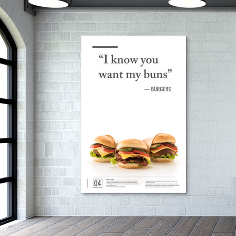 Junk Seduction_BURGERS Giant Poster | Artist : Scatterred Partikles