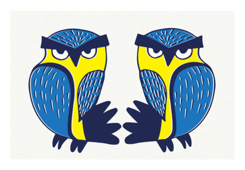 Wall Art, Crazy Owls Wall Art  | Artist : Pratyusha Subramaniam, - PosterGully