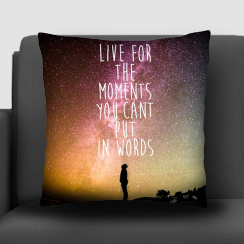 Live today carpe Diem travel wanderlust adventure quotes  Cushion Covers | Artist : Gauri Deshpande