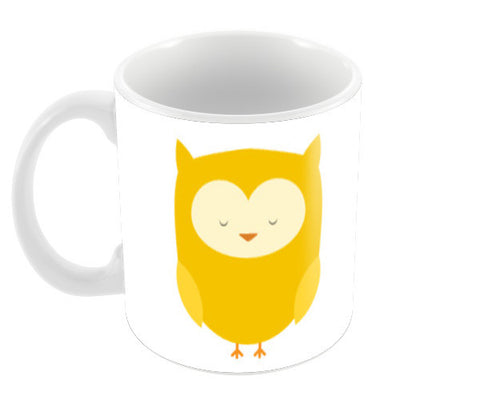 Cute Yellow Owl Coffee Mugs | Artist : Designerchennai