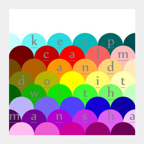 Square Art Prints, colorful Square Art Prints | Artist : manshaa, - PosterGully