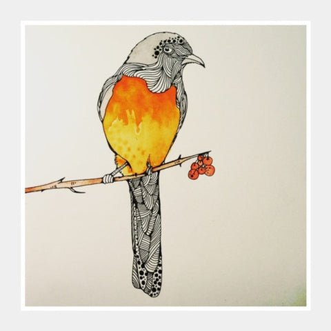 Square Art Prints, bird, illustration, watercolour  Square Art Prints | Artist : harsimran_sain, - PosterGully