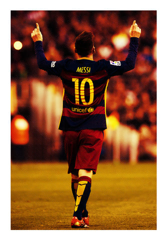 Lionel Messi After Goal | #Footballfan Wall Art | Artist : Creative DJ