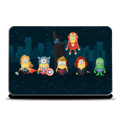 Laptop Skins, Minion Avengers Night Laptop Skins | Artist : Ronak Mantri, - PosterGully