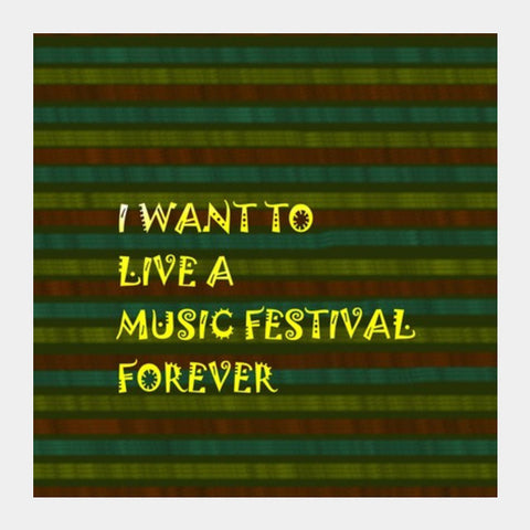 Music Is Life Square Art Prints PosterGully Specials