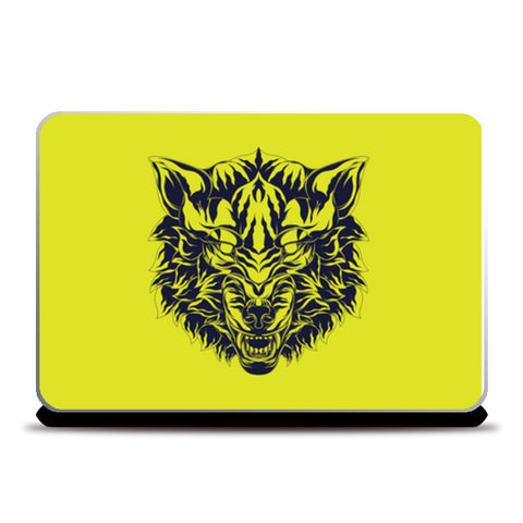 Wolf Head Laptop Skins | Artist : Inderpreet Singh
