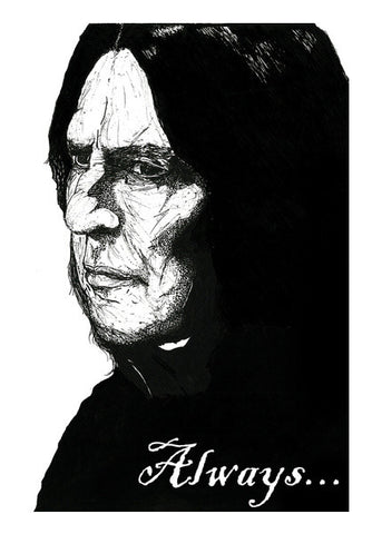 Alan Rickman, Always... Wall Art | Artist : Pop Goes The Easel