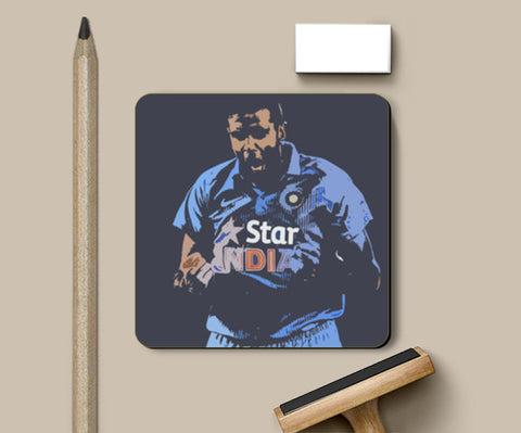 T20 R ASHWIN - Feel the Heat Coasters | Artist : Aniket Kamal