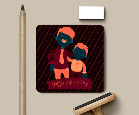 Son With Proud Dad Father's Day  Coasters | Artist : Creative DJ