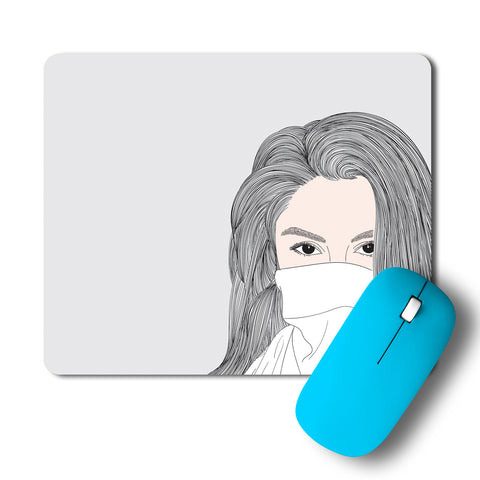 Girl With Sexy Eye In A Mask Mousepad