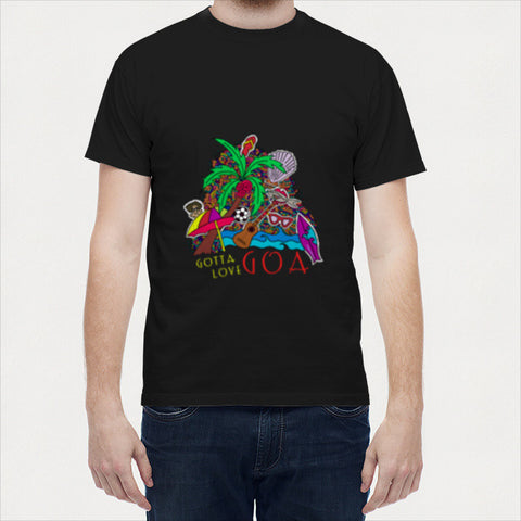 Men T Shirts, Goa Zenscrawl Men T Shirts | Artist : Meghnanimous, - PosterGully - 1
