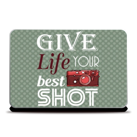 Laptop Skins, Camera Life Quote Laptop Skins | Artist : Mosaik, - PosterGully