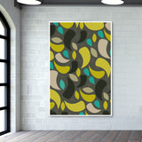 Seamless leaf geometric shapes Wall Art | Artist : Designerchennai