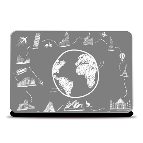 Laptop Skins, Around the world  Laptop Skins | Artist : Paresh Godhwani, - PosterGully