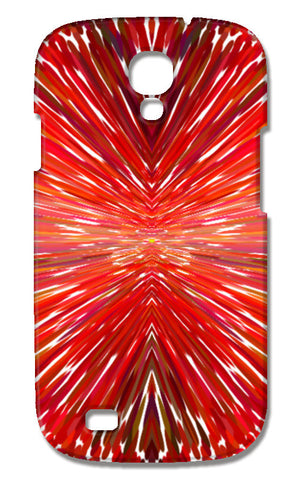 Abstract Red Burst Modern Design Samsung Galaxy S4 Cases | Artist : Seema Hooda