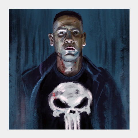 The Punisher Square Art Prints | Artist : Malay Jain