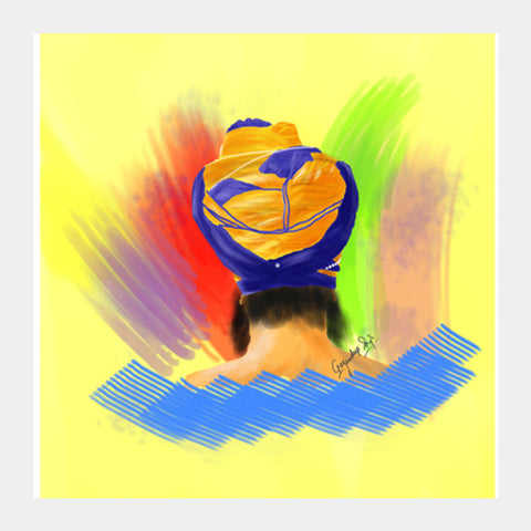 Square Art Prints, Enlightenment Sikh Square Art | Gagandeep Singh, - PosterGully