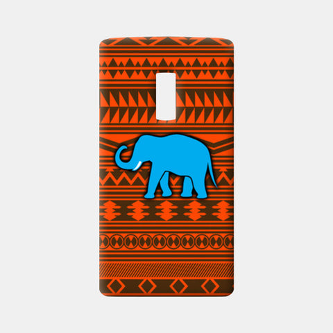 Blue Elephant One Plus Two Cases | Artist : Vaishak Seraphim