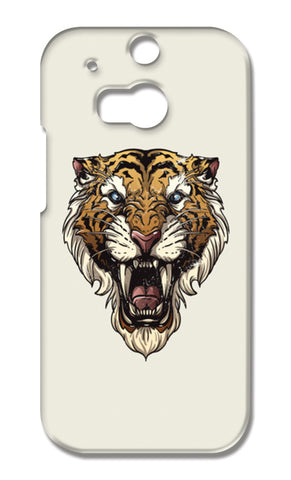 Saber Toothed Tiger HTC One M8 Cases | Artist : Inderpreet Singh