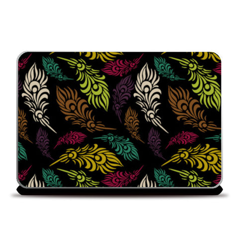Seamless hand drawn vector leaves  Laptop Skins | Artist : Designerchennai