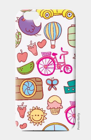 iPhone 6 / 6s, Colorful Doodles iPhone 6 / 6s Case | Artist: Pratyusha Subramaniam, - PosterGully