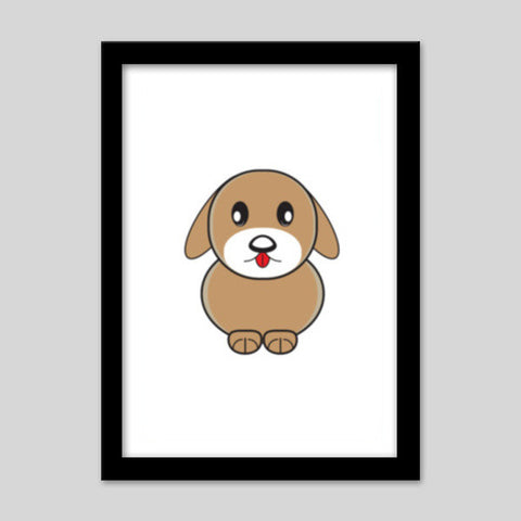 Little Cartoon Puppy Dog Premium Italian Wooden Frames | Artist : Mani Selvam